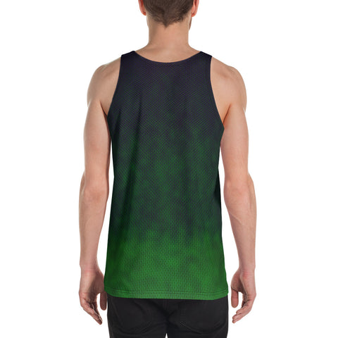 Dark Drips & Splatters Unisex Tank Top by PatternNerd