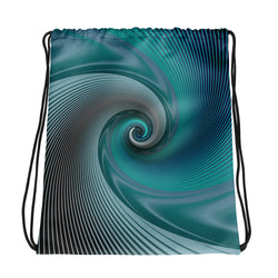 Spiral Wave Drawstring bag by PatternNerd