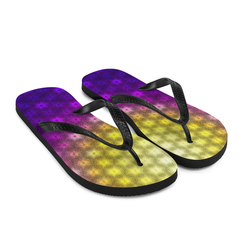 Bright Burst Flip-Flops by PatternNerd
