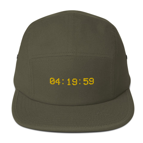 100% Cotton Five Panel Cap 4:19