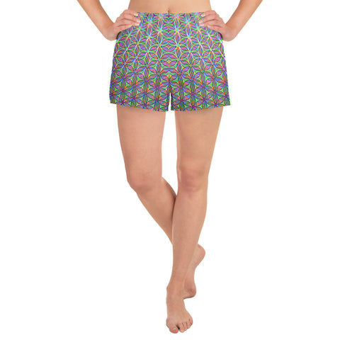 Image of FLOWER OF LIFE Women's Athletic Short Shorts