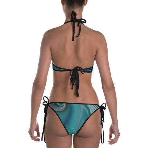 Image of Spiral Wave Bikini by PatternNerd