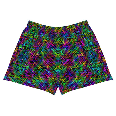 Colorful Interactions Women's Athletic Short Shorts | PatternNerd