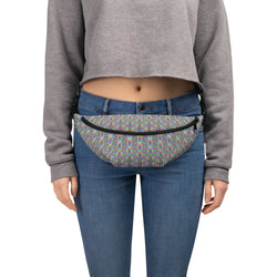 Silver Rainbow Flower of Life Fanny Pack by PatternNerd