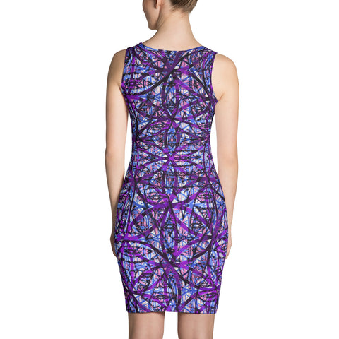 Flower of Life Dark Purple Mix Dress by PatternNerd