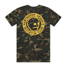 Load image into Gallery viewer, Hawthorne Heights Skeleton Club - Camo T-Shirt