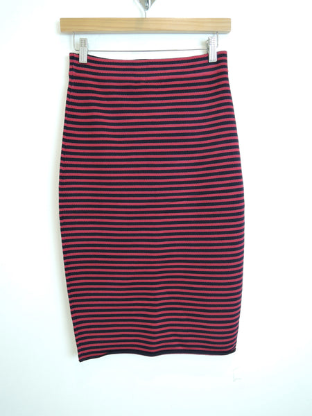 Delmar Skirt in Dark Cherry/Navy