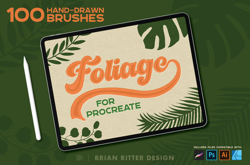 Foliage for Procreate - Brian Ritter Design