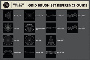Drawing Grid Brushes For Procreate - Brian Ritter Design