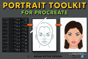 Portrait Toolkit for Procreate - Brian Ritter Design