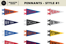 Load image into Gallery viewer, Vintage Pennants + Baseball Vectors - Brian Ritter Design