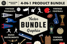 Load image into Gallery viewer, Vector Graphics 4-in-1 Bundle - Brian Ritter Design