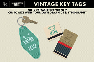 Vintage Key Tags - Brian Ritter Design