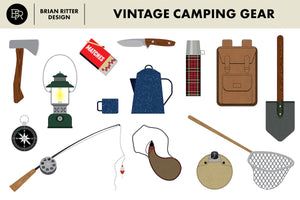 Vintage Camping Gear - Brian Ritter Design