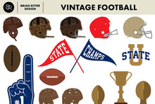 Load image into Gallery viewer, Vintage Football Vector Graphics - Brian Ritter Design