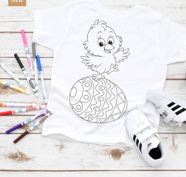 Kids Coloring Bird Egg Tee
