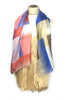 DAISY DARCHE PRINTED SILK HABOTAI LE GRAND CARRE SCARF IN BLOCKS MULTI PRINT