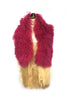 DAISY DARCHE RASPBERRY SHEEPSKIN COLLAR LINED IN SILK SATIN MARBLE PRINT