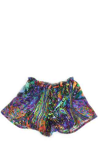 DAISY DARCHE FRENCHIE SILK SATIN SHORTS IN IBIZA PRINT