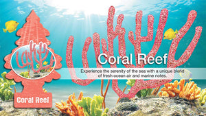 Aromatizante para carro - Little Trees (Coral Reef) 6 UNIDADES