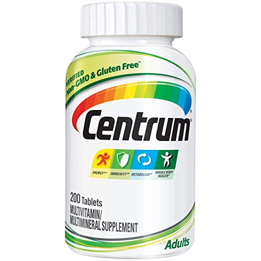 Kit 3 Centrum Adulto Multivitaminico - 200 Tablets FRETE INCLUSO por envelope
