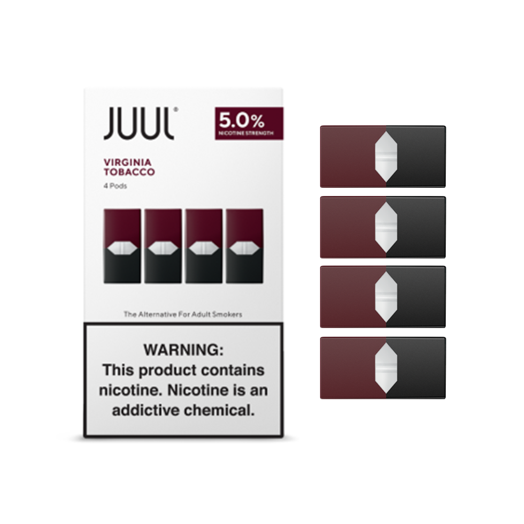 JUUL PODS - 5.0% NICOTINE VIRGINIA TOBACCO