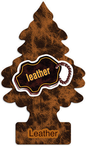 Aromatizante para carro - Little Trees (Leather) 6 UNIDADES