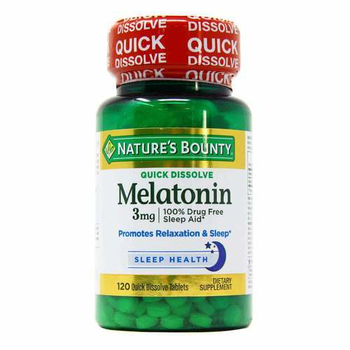 Nature's Bounty Quick Dissolve Melatonin - 3 mg