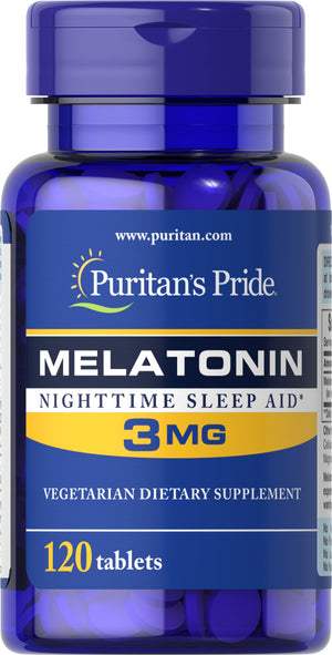 Puritan's Pride Melatonin 3 mg - 120 tablets