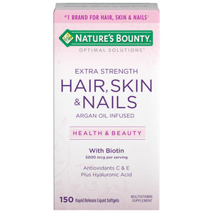 Kit Nature's Bounty Hair, Skin and Nails, 150 Softgels Com Frete Incluso