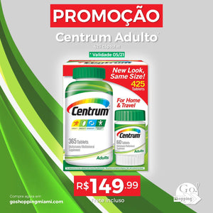 PROMO - Centrum Adults - 425 Tablets (validade 5/21)