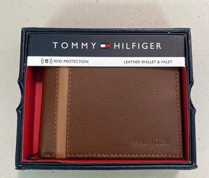 Carteira masculina Tommy Hilfiger - Couro Marrom/Tan