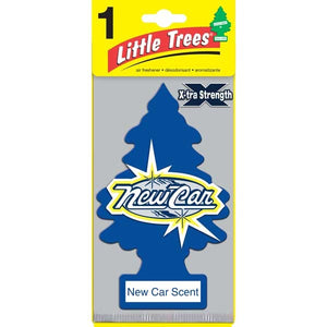 Aromatizante para carro - Little Trees XTRA STRENTGH (New Car) 24 UNIDADES