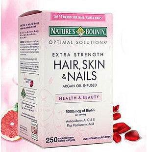 Nature's Bounty Hair, Skin and Nails, 250 Softgels