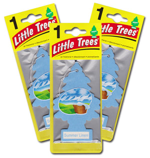 Aromatizante para carro - Little Trees (Summer Linen) 24 UNIDADES