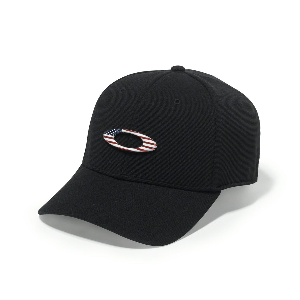 Bone Oakley Tincan hat (Black/American Flag)