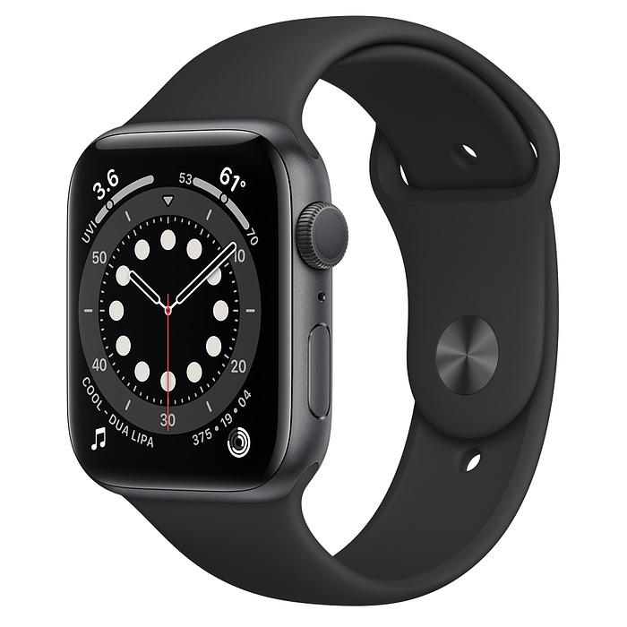 Apple Watch 6 Space Gray Aluminum Case with Black Sport Band - 40mm