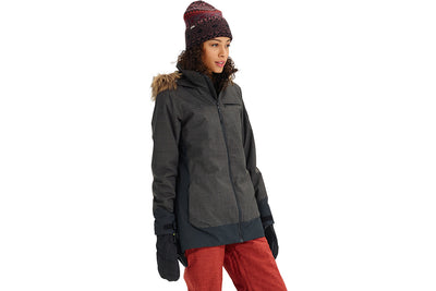 BURTON WOMENS LELAH JACKET TRUE BLACK