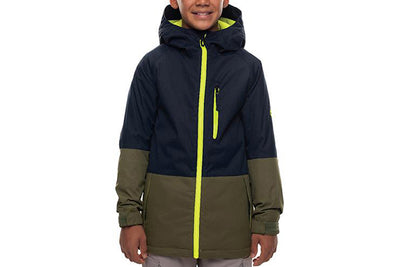 686 YOUTH JINX INSULATED JACKET NAVY COLOURBLOCK