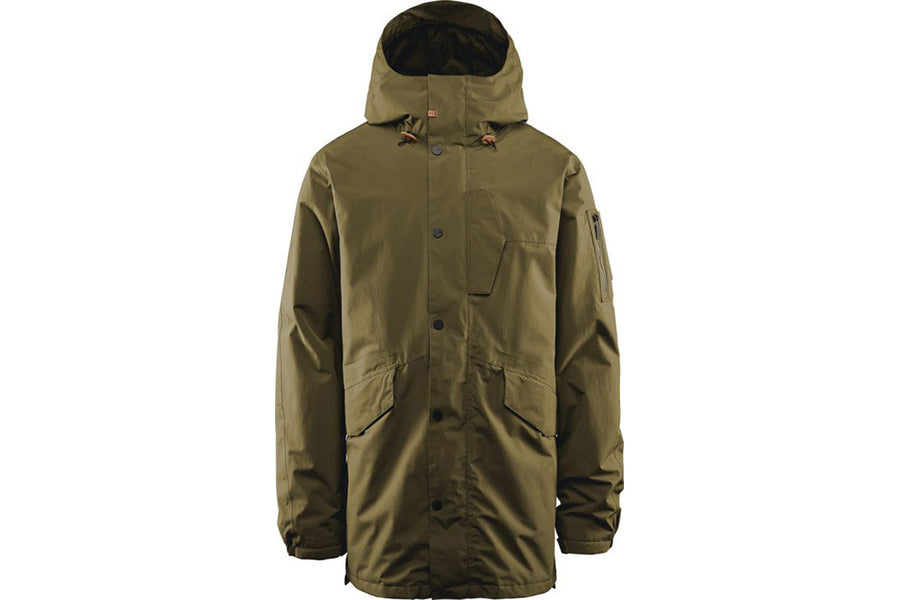 Mens Snowboard Jackets Clear 32 LODGER PARKA OLIVE