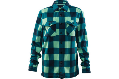 32 WOMENS ASHER POLAR FLEECE SHIRT AQUA