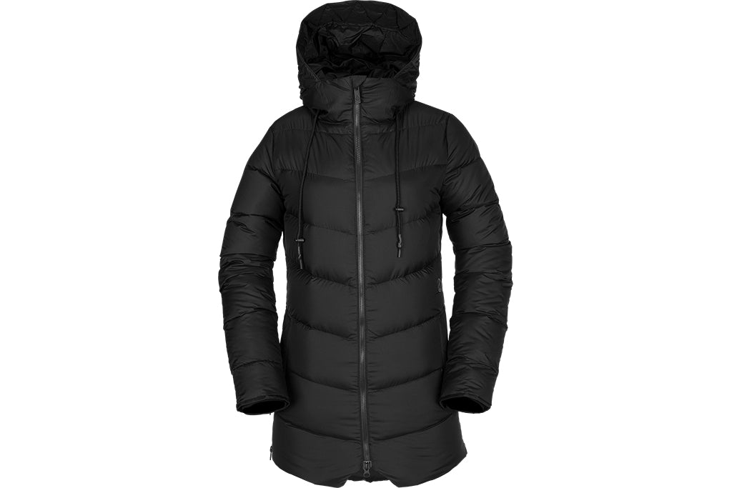a25b788ab66234 VOLCOM WOMENS STRUCTURE DOWN JACKET BLACK - Sanction Skate And Snow