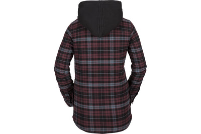 VOLCOM WOMENS HOODED FLANNEL JACKET
