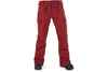 VOLCOM WOMENS ROBSON PANT DEEP RED