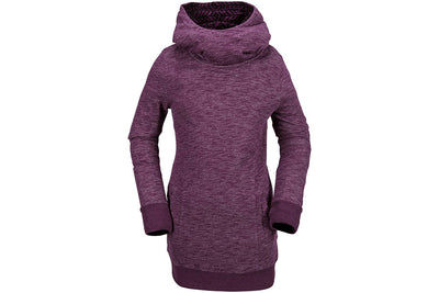 VOLCOM WOMENS TOWER PULLOVER FLEECE WINTER ORCHID