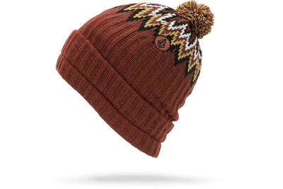 VOLCOM JUMP STALKER BEANIE BURNT RED
