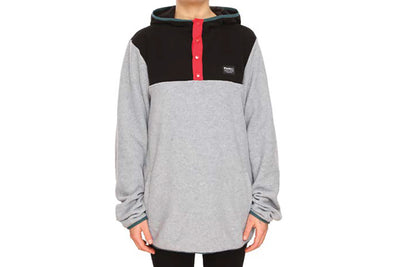 PLENTY WOMENS ROAD TRIP HOOD GREY BLACK