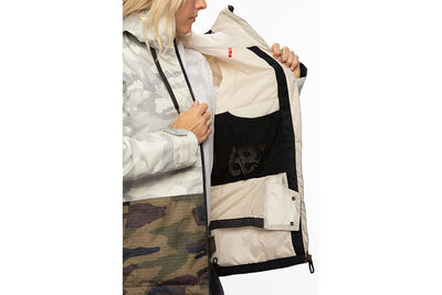 686 Women's Athena Insulated Jacket White Camo Colourblock