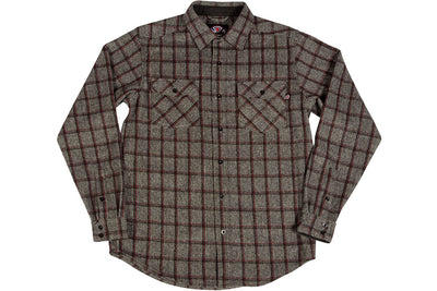 Independent Chainsaw Button Up Grey Plaid