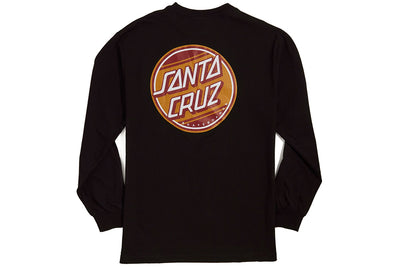 Santa Cruz Street Dot Long Sleeve Tee Black
